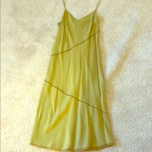 J Crew silk slip dress light green